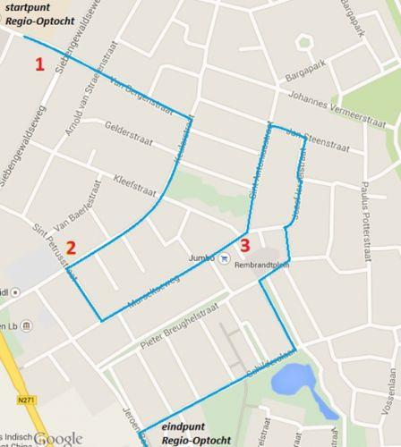 Route Optocht Nieuw Bergen