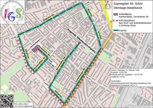 Zugwegplan Sulzer Veedelzog