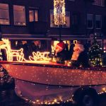 Lichtjesparade 2017 de kerstman in de boot