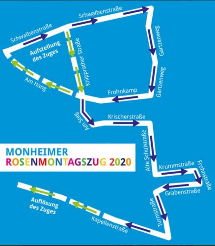 Zugweg rosenmontagszug Monheim
