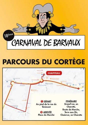 Itinéraire carnaval barvaux