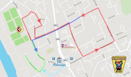 Route optocht Malden