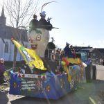 Jeugdprinsenwagen van C.V. de Bietjes uit Aijen die traditioneel de stoet opent