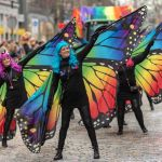 Prachtige Vlinder Dames met Carnaval
