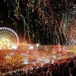 Verlichte optocht van Nice (Frankrijk)